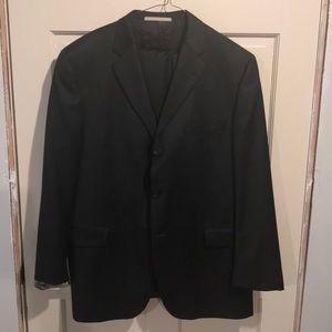 Burberry Black 3-button wool suit